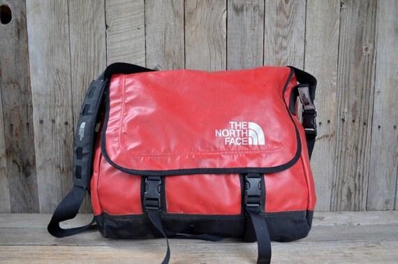 vintage waterproof red the north face messenger tool bag. Black Bedroom Furniture Sets. Home Design Ideas