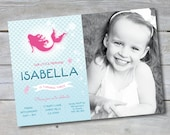 "Mermaid Birthday Party Invitation - Barbie Party - Personalized - 7""x5"" - Print Your Own - DIY"