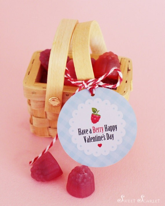 """valentines day gift tag - """"have a berry happy valentine's day, Ideas"""