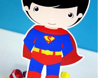 Classic Superhero Super Boy Centerpiece