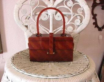 Lucite Handbag/Jewelry Box/Makeup Box