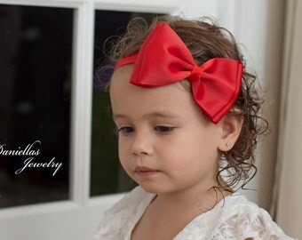 Snow White Inspired Headband. Snow white headband.red bow