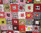 Handmade S'Noel Sassy Snowman Quilt Christmas Holiday baby throw size