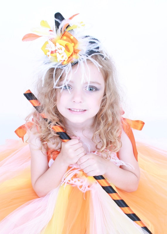 READY TO SHIP:  Simply Sweet Mini Witch Hat Headband - Halloween Costume - Candy Corn - Fits toddler to adult - Cutie Patootie Designz