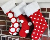 Christmas Stocking Personalized Dots Lipstick Red Polka Wholesale Monogrammed Dandi Oxygen no.361 no.405 no.039