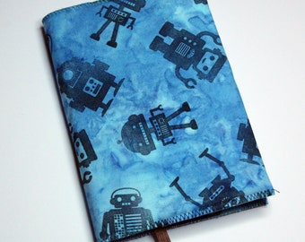 Blue Robot Journal / Notebook Cover