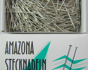 """500g (about 1 pound) 50mm (2.0"""") AMAZONA Stainless Steel Pin (Approx 1000 Pins)"""