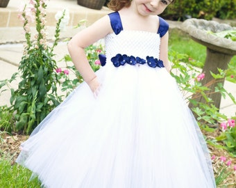 Classic White Tutu Dress- Customize your colors