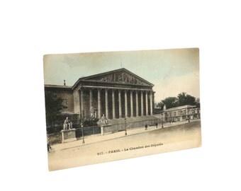 Vintage Postcard Paris Landmark Les Chambre des Deputes