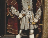 Large - King Henry VIII  - Counted Cross Stitch Kit - DMC materials