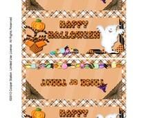 Digital Halloween Bag Topper Ghostie Theme