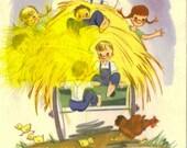 Vintage Birthday Card, Hay Wagon, Load of Good Wishes, Unused