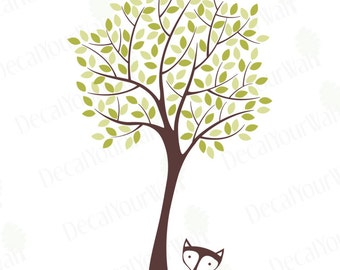 """Tree Wall Decal Nursery Decor Wall Art Baby Kids Room Decals Large Removable Vinyl Sticker Boys Girls Cute Snail White Stickers Bedroom 92"""""""