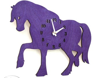"The ""Purple Mare"" designer wall mounted clock from LeLuni"