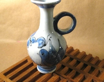 Vintage Mexican Pottery Small Pitcher or Vase SALE