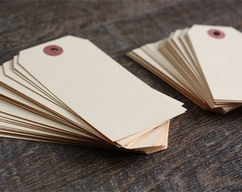 50 Paper Gift Tags- Manila Hang Tags. Shipping Tags (Select Size). Supplies. Set of 50