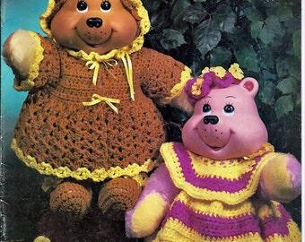 Sweet Baby Bears Crochet Pattern Leisure Time Book MM1091