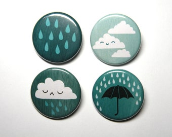 rainy cloud button pack