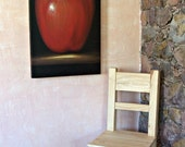 "Big original painting extra large red apple fruit still life  minimalism original acrylic on canvas 24"" x 36"" Free Shipping CIJ - MyMexicanArt"