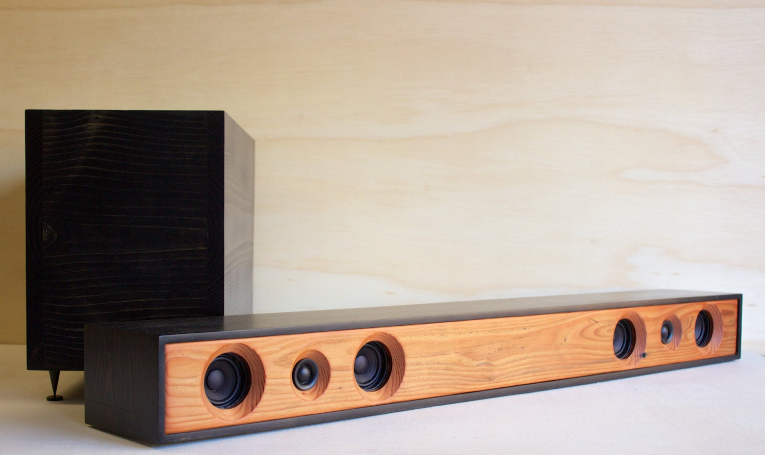 Theater System    Reclaimed Redwood with Ebony Stained Pine ...