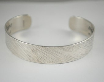 Keepsake Sterling Custom Poetry Hand Stamped Secret Message Bracelet. Secret Message