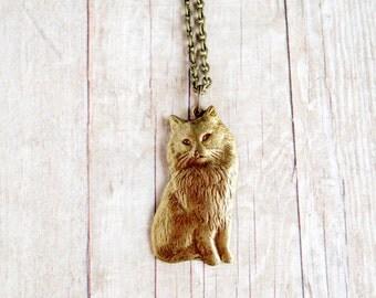 Cat Necklace Kitten Jewelry