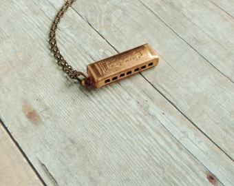 Harmonica Necklace Vintage