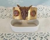 Art Nouveau Style Cuff Bracelet With Fairy Lady