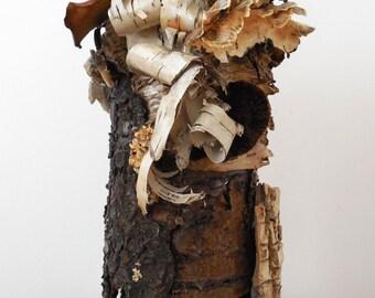 Rustic, Eco Friendly, Natural Birch Bark Vase