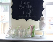The Cutest Chalkboard-Preppy and Perfect for Birthday Parties, Family Notes, Showers, Weddings, Kid's Rooms-