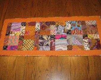 Patchwork Fall Table Runner - Earth Tones - Table Runner - Kaffe Fabrics - Handmade Table Centerpiece
