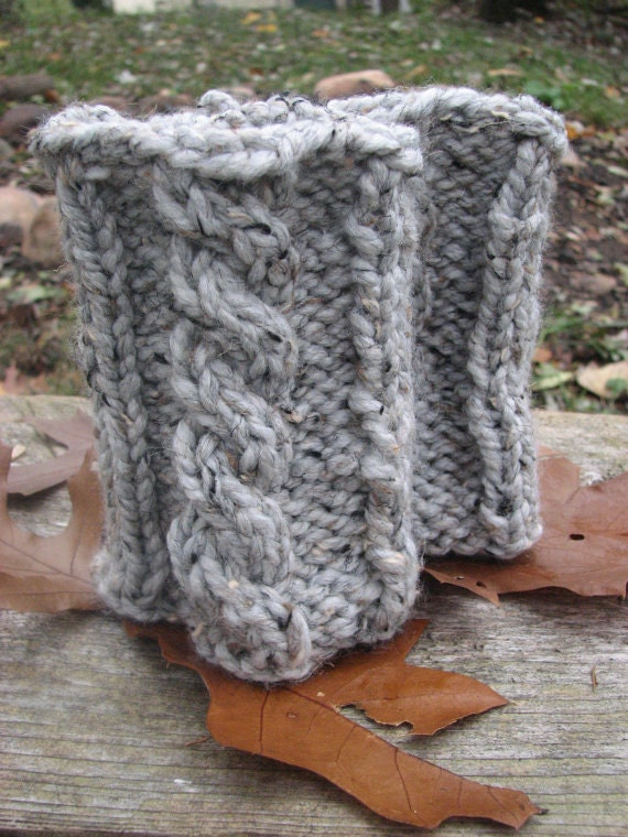 knitting pattern super chunky boot cuffs with cableeasy