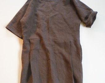 linen pleat dress