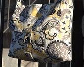 Medium Messenger Bag: Black, Yellow and Grey
