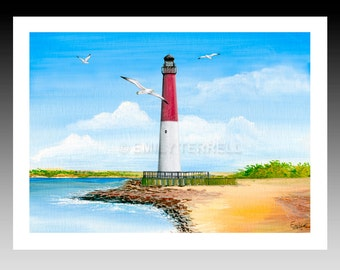 Barnegat Red and White Lighthouse 8x10 Print