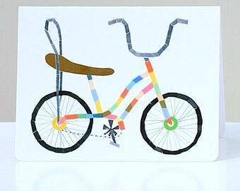 Bicycle Greeting Cards-- Banana Seat & Sissybars Recycled Bicycle