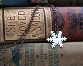 porcelain snowflake necklace