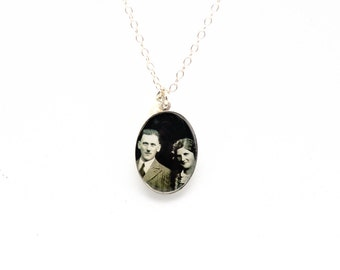 Custom Photo Necklace | Oval Photo Necklace | Sterling Silver Mothers Day Gift  | Anniversary Gift Remembrace