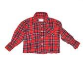 Vintage BABY LUMBERJACK RED Flannel