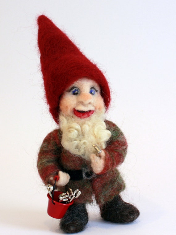 Needle Felted House Gnome Finley