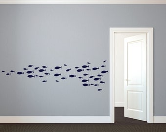 School of Simple Fish - Wall Decal Custom Vinyl Art Stickers