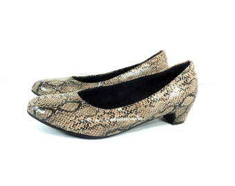 Snake Skin Low Pumps 7 - Snake Skin High Heels 7