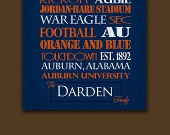 Auburn University Tigers: Print or Canvas
