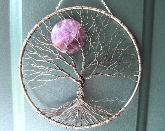items similar to amethyst moon tree of life wall hanging. Black Bedroom Furniture Sets. Home Design Ideas