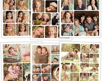 Story Board Collage and Blog Templates for Photographers - Rounded Corners - BB2631