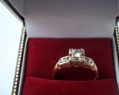 40s-50s 14k Yellow Gold Engagement Ring