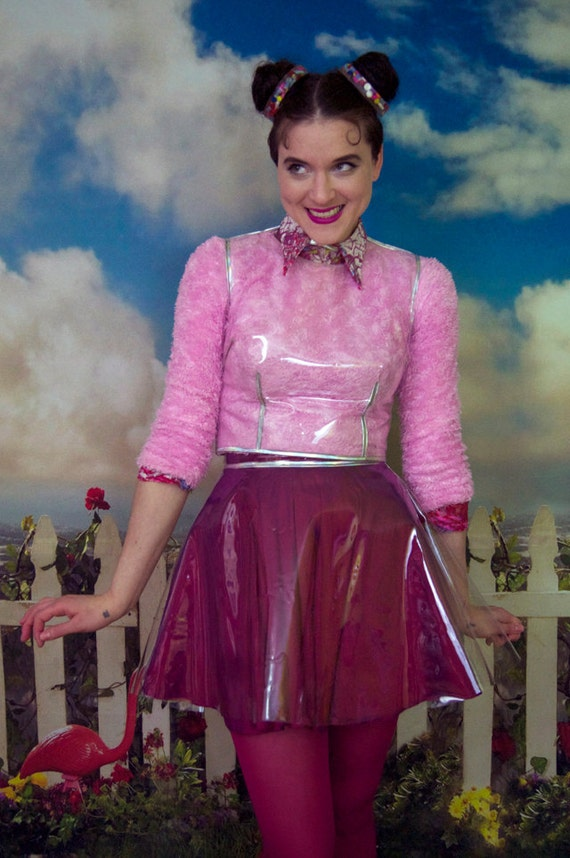 Clear Plastic Skirt 100