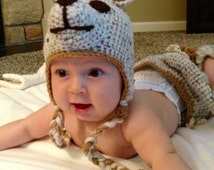 Kangaroo Hat, Crochet Kangaroo Hat, Kangaroo Costume, Baby Girl Hat, Baby Boy Hat, Adult Hat, Animall Hatt, Toddler Hat, Ready to Ship