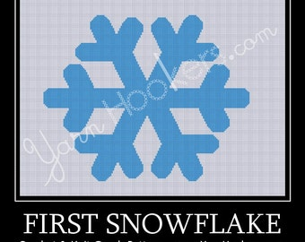First Snowflake - Afghan Crochet Graph Pattern Chart - Instant Download