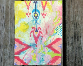 "Archival Print of Original Mixed Media ""Ikat en Avril"""